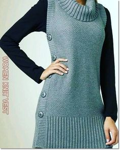 Woman Knit Vest 2020 – How do you wash knits in the washing machine – Sayfa 35 – Woman Style Vest Pattern, Knit Vest, Woman Style, Washing Machine, Knits, Knitting, Crochet, Womens Fashion, Sweaters