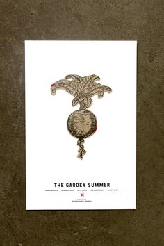 The Garden Summer | Letterpress on Fabric from Stitch Design Co.