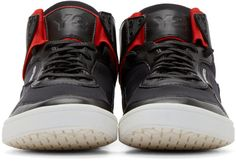 Y-3 Black Kazyhuna High-Top Sneakers