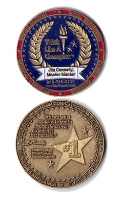 """Creative Business Card Coin.  Don't consider the """"COST"""" consider the fact that I have this coin on my desk 6 years after being given it.  Would you like to have your card on the desk of your customers for that long or longer?"""