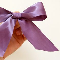 Tips on how to tie the perfect bow.  Definitely need to know this, my bows are haphazard now . . .