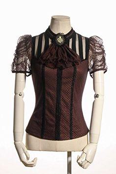 Steampunk goth Princess diary florence sorority cravat blouse SP087 BR Large jill's punkxloli http://smile.amazon.com/dp/B0152YZ2YW/ref=cm_sw_r_pi_dp_G.AKwb1TWX86R