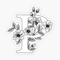 Embroidery Alphabet, Hand Embroidery Patterns, Embroidery Art, Embroidery Designs, Stick Figure Drawing, Floral Letters, Lettering Tutorial, Lovers Art, Sticker Design