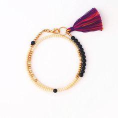 Wrap Bracelet with Tassel, Beaded Bracelet, Mala Bracelet, Yoga Jewelry, Gift for Her