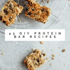 43 DIY Protein Bar Recipes: Homemade Nutrition On-The-Go - Wholesome Living Tips Diy Protein Bars, Peanut Butter Protein Bars, Protein Bar Recipes, Low Carb Recipes, Homemade Chocolate Bars, Low Carb Chocolate, Best Keto Bread, Low Carb Bread, Cream Cheese Cookie Recipe