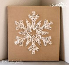 Create your Own Snowflake String Art - DIY Kit - Do It Yourself - Snowflake String Art - String Art - Holiday Decor - Winter - Christmas www.homeology.co.za