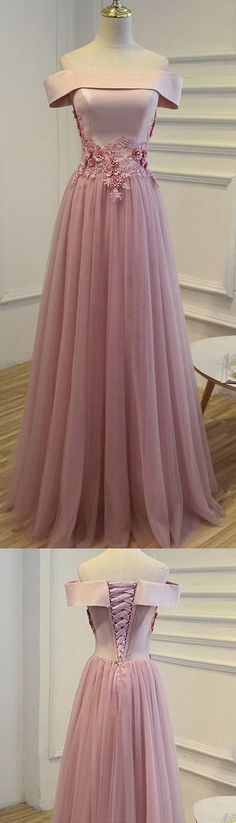 Stunning prom gowns sexy long evening dresses modest corset pink off the shoulder prom dress H0137