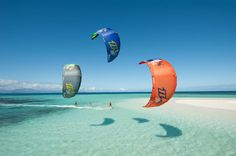 Kitesurfing in (Bel Ombre), Mauritius Island!
