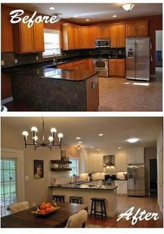 Marvelous Small kitchen cabinets in nigeria,Kitchen layout design help and Kitchen remodel adding island. New Kitchen Cabinets, Kitchen Redo, Kitchen Countertops, Kitchen Ideas, Ranch Kitchen, 1960s Kitchen, Floors Kitchen, Kitchen Sinks, Black Granite Countertops