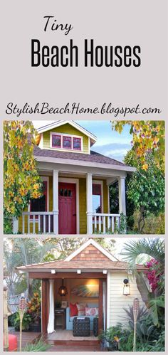 Tiny Beach Houses #tinyhouse #beachhouse