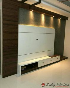 Home interiors is all about how it is planned and Modern Tv Unit Designs, Modern Tv Wall Units, Tv Stand Designs, Living Room Tv Cabinet Designs, Cupboard Design, Tv Unit Decor, Tv Wall Decor, Tv Wall Panel, Wall Tv