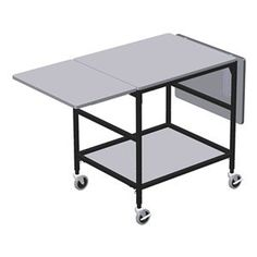 Mobile Work Table, 26 W x 68 In. L by Irsg. $638.52. Mobile Work Table, Load Capacity 200 lb., Overall Length 68 In., Overall Width 26 In., Overall Height 35 to 42 In., Caster Type (2) Swivel, (2) Braking, Caster Material Polyurethane, Caster Size 4 In., Number of Shelves 1Material Wood/SteelColor Gray and Black, Powder Coat Finish, Includes Dual Folding Extension Boards Mobile WorktablesGray and black. 5CHN2 includes flip and fold board with brackets. 5CHN5 fe...