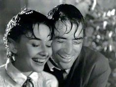 Audrey Hepburn and Gregory Peck in Roman Holiday. I love love love this movie! And now I'm going to obsess over Audrey forever. I feel like my life has been such a waste without her movies. I saw this one today!
