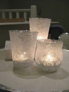 DIY lace candle holders