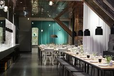 Spritmuseum - Google Search Stockholm Restaurant, Conference Room, Table Settings, Table Decorations, Furniture, Home Decor, Google Search, World, Travel