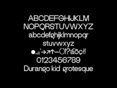 Durango Kid Grotesque on Behance