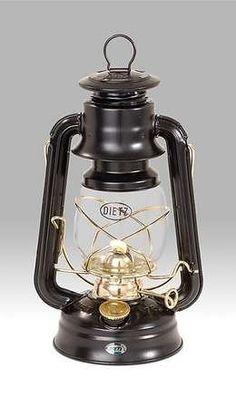 "Nickel Plated Kerosene 10/"" Silver Dietz Original #76 Oil Lamp Burning Lantern"