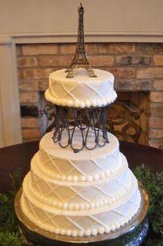 Eiffel Tower Anniversary Cake cakepins.com | 100layerckae.com ...