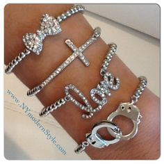 Silver Cuff Love Set now available at www.NYmodernStyle.com