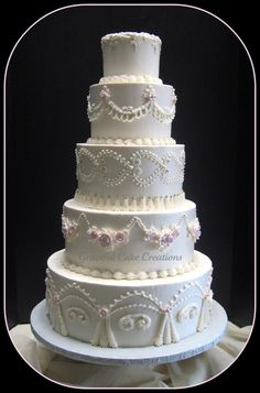 What Will 7 Tier Wedding Cake Sizes Be Like In The Next 7 Years? - What Will 7 Tier Wedding Cake Sizes Be Like In The Next 7 Years? 7 Tier Wedding Cakes, Ivory Wedding Cake, Wedding Cake Photos, Buttercream Wedding Cake, Amazing Wedding Cakes, Elegant Wedding Cakes, Wedding Cake Designs, Wedding Cake Toppers, Elegant Cakes