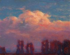 """Daily Paintworks - """"Sauvie Sunrise"""" by Michael Orwick"""