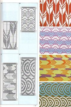 Pattern Library for Punch Card Knitters 1973 33 — Yandex. Intarsia Knitting, Knitting Charts, Knitting Stitches, Knitting Designs, Knitting Patterns, Knitting Machine, Card Patterns, Stitch Patterns, Color Patterns