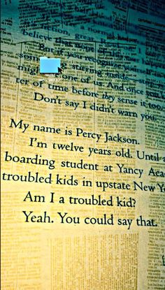 Join the discord link! For PJ fans        :)) Percy Jackson Quotes, Percy Jackson Books, Percy Jackson Fandom, Percy Jackson Wallpaper, Book Wallpaper, Geeky Wallpaper, Saga, Trials Of Apollo, Magnus Chase