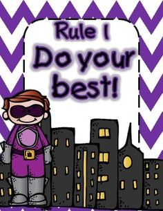 Hope you enjoy this little freebie! Included are 5 Superhero themed rules posters to get your year off to a SUPER start! Hope you have a wonderful year! Superhero Classroom Theme, Classroom Rules, Classroom Setting, Classroom Setup, Classroom Organization, Superhero Ideas, 1st Day Of School, Beginning Of School, Back To School
