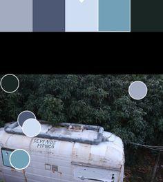 Azul claro y azul (2): D0DDF2/739DB5 Puntos de color y paleta