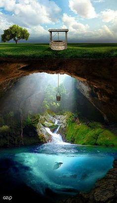 Enxergar que quando você chegar ao fundo do posso, tudo pode se tornar maravilhoso!