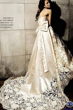 This dress is going to be my wedding dress. In the snow, with my red lips and my perfect husband.
