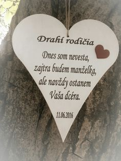 Darček od nevesty pre rodičov Ale, Groom, Gifts, Wedding Ideas, Vintage, Weddings, Decor, Beer, Favors