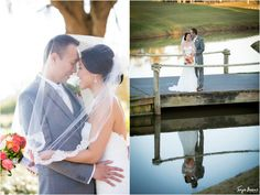 TPC wedding photography ; ponte vedra wedding photographer ; jacksonville wedding photographer ; tonya beaver photography ; bride and groom ; veil ; bouquet ; love ; reflection