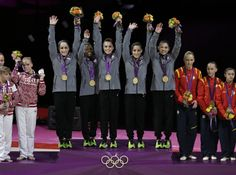 The U.S. Women's Gymnastics Olympic Team, w00t! So proud of these young women!