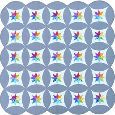 Celestial Orbs paper piecing quilt pattern by Flying Parrot Quilts