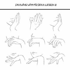 Hand positions, face, text; How to Draw Manga/Anime