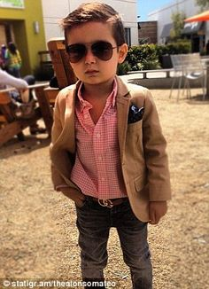 What a dashing little guy. Love this look.
