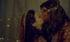 Tiffany Dupont star as Queen Esther and Luke Goss as King Xerxes in One Night with the King - 2006.