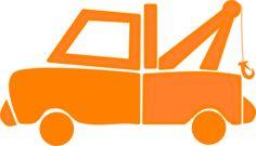Orange Dump Truck clip art - vector clip art online, royalty free & public domain