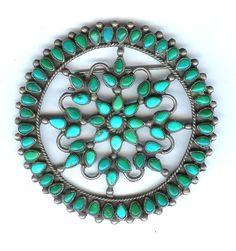 Squash bloosom pin Zuni early 20th c   private collection Linda Pastorino