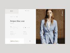 Birdie Fashion Store Coats Product Page Animation by Zhenya Rynzhuk