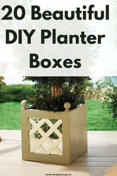 20 Beautiful DIY Planter Boxes Tall Planter Boxes, Cedar Planters, Diy Planter Box, Diy Planters, Planter Ideas, Types Of Furniture, Cool Furniture, Outdoor Furniture, Diy Wood Projects