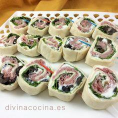 mini wraps vegetales