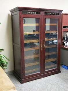 The Ultimate Cabinet Humidor! 4000 Cigar Capacity (2000 per side)  Independent Climate Control