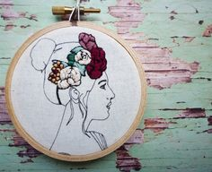 Floral Crown Embroidery 'Phaedra' in by CheeseBeforeBedtime
