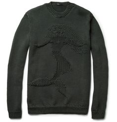 Jil Sander Mermaid Intarsia Loose-Knit Sweater | MR PORTER