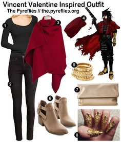 Final Fantasy Fashion - Final Fantasy VII 7 Vincent Valentine Inspired Outfit / Look / Everyday Cosplay