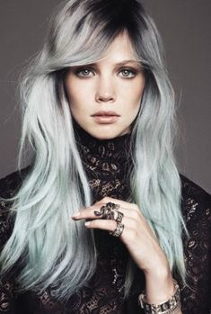 2014 hair trends | Picture of Edgy Hairstyles for Long Hair 2014 and grey is a fab colour maybe next big thing