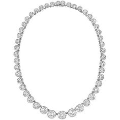 Preowned Tiffany & Co. Important Diamond Riviere Necklace ($495,000) ❤ liked on Polyvore featuring jewelry, necklaces, diamond, 1stdibs, multiple, chains jewelry, preowned jewelry, pre owned jewelry, graduation necklace and bezel set diamond necklace