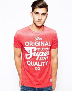 Superdry T-Shirt With Sunbleach Print